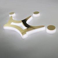 Özelleştirilmiş 3D Burcu Arka Lit Mektubu Akrilik LED Işareti SUS Yüzey Işıklı Tabela Kesme Akrilik Kapalı Açık Su Geçirmez