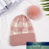 Beanie Skull Caps Unique Removable Pompom Lattice Hats Beanie For Women Female Cute Fur Ball Winter Warm Knitted Hat Skullies Beanies Bonnet