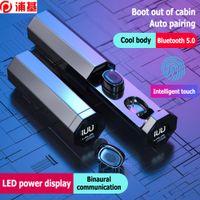 B9 TWS Kablosuz Bluetooth Kulakiçi 5.0 Stereo Mini Bluetooth Kulaklık LED Ekran Su Geçirmez Gürültü Uzatıcı Spor Kulaklıklar