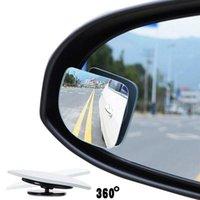 2pcs 유니버설 조정 가능한 자동차 거울 자동차 자동 광각 측면 백미 조정 가능한 블라인드 스팟 미러 자동 액세서리 주차