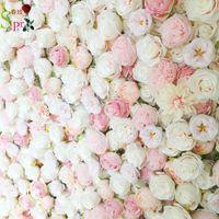 장식 꽃 화환 SPR 4FT * 8 피트 블러쉬 핑크 웨딩 장미 롤 위로 꽃 벽 배경 인공 테이블 중심점 배열