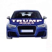 Hot Trums Выборы 2024 Флаг из выборов из выборов Избранные автомобиль Egine Cover Flags Моющийся и сушильный Безопасный Простой Установка и Удаление Кампания Баннер