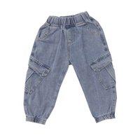 Çocuklar Kot Erkek Kot Kızlar Rahat Pantolon Yumuşak Denim Gevşek Çocuk Pantolon İlkbahar Sonbahar Çocuk Giyim Erkek Erkek Giymek 2-7Y B3956