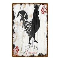 Oeufs frais poulet métal signe de bœuf laine de vachette canard collection affiche vintage plaque murale peinture artisanat ferme maison décor décorations pour salon pour salon