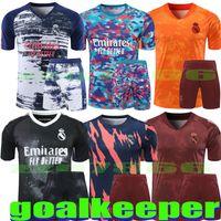 2021 2022 Real Madrid Goalkeeper HAZARD SERGIO RAMOS BENZEMA Soccer Jerseys 21 22 COURTOIS AREOLA MODRIC Football uniforms shirt