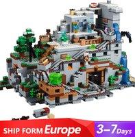 Créateur en stock 18032 Minecraft Cave assemblée Bâtiment Jouets Compatible 21137