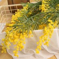 Decorative Flowers & Wreaths 1 Bunch Of Acacia Artificial Home Wedding Decorations Flower Arrangements Plant