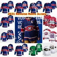 Montreal Canadiens 2021 Reverse Retro Hockey-Trikots 31 Carey Preis 14 Nick Suzuki Guy LafrEUR BRENDAN GALLAGHER WEBER CUSTOM 05