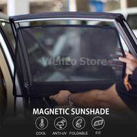Magnetic Car Front Side Window Sunshade For Renault Koleos Kadjar Captur Megane R26 CLIO 4 Shade Sun Protection Mesh Cover