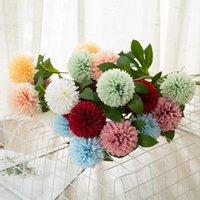 Fleurs artificielles Tennis Tennis Chrysanthème Décorations à la maison Décoration de mariage Fleur Dandelion Arrangement Flower artificiel GWB8878
