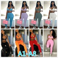 Summer Women Tracksuits Sleeveless Open Back Tether T-shirt + Pants Solid Color Two Piece Sets Yoga Outfits Gym Clothes Plus Size Sportwear