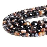 Andra naturliga runda facetterade kvarts Agates pärlor 6 8 10 12mm plocka storlek för smycken gör halsband armband DIY charm grossist
