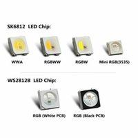 스트립 10 ~ 1000pcs WS2812B (4 핀) SMD 블랙 / 화이트 버전 SK6812 개별적으로 어드레스 가능한 디지털 RGB RGBW LED 칩 DC5V
