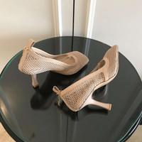 أزياء المرأة عالية الكعب مربع تو اللباس أحذية شبكة و بيري العجل المرأة مثير صندل شوهي مضخات تمتد