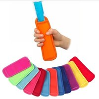 Colors Antifreezing Popsicle Bags Freezer Popsicle Holders Reusable Washable Neoprene Insulation Ice Pop Sleeves Bag for Kids Student Summer Kitchen Tools