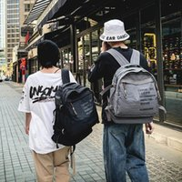Backpack Vintage Style College Men Outdoor Travel Canvas Casual Large Capacity Women Girl Bag