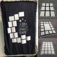 DIY لوحات التسامي بطانية فارغة نقل الحرارية الطباعة 9 15 شبكات القلب القمر البطانيات A02