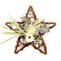 Декоративные цветы венки домашнего сада декор цветок деревянные пентаграммы венок эвкалипта лист подвесной симуляция шелковая ткань гирлянда внешняя ди