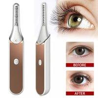 2021 New Electric Eye Eye Burler Applicator Rose Gold Riscaldato Elettrico Elettrodomestico Bigodino Curler Cosmetici Strumento duraturo Eye Mascara Strumenti di trucco