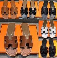 H Bayan Yaz Sandalet Plaj Slayt Terlik Timsah Cilt Deri Çevirme Seksi Topuklar Bayanlar Sandali Moda Tasarımlar Turuncu Scuffs Ayakkabı Orijinal Kutu