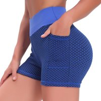 Yoga Outfit Women Gym Shorts Phone Pocket Jogging Running Fitness Pants High Waist Seamless Tight Sports Leggings #T1G