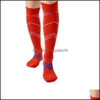 Athletic Outdoor As & Outdoorshigh Elastic Men Sports Pressure Socks Breathable Stocking Football Gym Compression Leg Sleeves M L Seasons We
