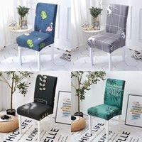 Flexibilität Chair Cover European-style Printed Polyester Hotel Home Hochzeit Esszimmer Multicolor Universal Größen 1PC