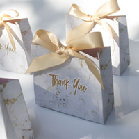 High-quality Creative Grey Marble Wedding Favours candy Boxes Paper Chocolate BoxesPackage/Gift Bag Box for Party Baby Shower