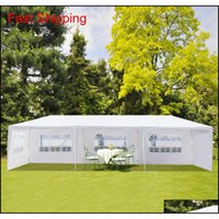 10x30ft 8 lati 2 porte a baldacchino all'aperto festa tenda da sposa bianca 3x9m gazebo padiglione con spira fob new_dhbest