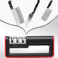 Sharpeners Multifunction Manual 3 Stage Steel Diamond Ceramic Coated Knife Sharpener Kitchen Sharpening Tools gift Free AG77