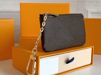 Designer di alta qualità originale di lusso Designer Designer Damier Canvas Piccola borsa in pelle Monogrames Portafoglio Classic Zipper Pocket Key Coin Borselly Pallas