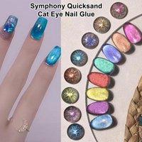 Nail Gel 15ml Auroras Glue Fast Dry False Tips UV Polish Reflective Galactic Art Magnet