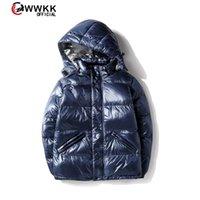 WWKK 2020 Nuovo Giacca da uomo e donna Giacca invernale Glossy 4 Colori Plus Size Parka con cappuccio Outwear Cappotti imbottiti femminili