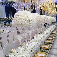 Flores decorativas grinaldas gypsophila rose artificial arranjo de flores mesa de mesa de mesa de bola de bola de cinturão de fundo
