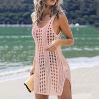 Donne costumi da bagno copertina ups beachwear 2021 nuovo estate cotone all'uncinetto costume da bagno spiaggia bikini copertura costume da bagno coperta copertura solare copertura