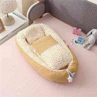 Tragbares Nest mit Steppdecke Baby Kindergartenbett Baumwolle Krippe für Neugeborene Bettwäsche Set CO Sleeper