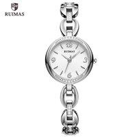 2021 Ruimas Kuvars Saatler Kadınlar Gümüş Bilezik Zarif Kol Saati Lady Kadın Su Geçirmez İzle Relojes de Lujo Para Mujeres 596