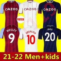 Hombres + Kits Kit Grealish Watkins Buendía Fútbol Jerseys 21 22 Hogar Mc McGinn Aston El Ghazi Wesley Villa Douglas Luiz Mings Konsa Cash M.Trezeguet Football Shirts