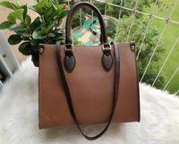 Женщины Onthego Tote Handbage M44576 M44925 Подлинные кожаные сумки мессенджер Crossbody Сумка на плечо кошелек кошелек L2135
