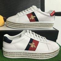 2021 Hot Classic! Mode original designer ACE haut de gamme Blanc Cristal Bee Red et Vert Sneaker Casual Sneaker Femme Chaussures de sport avec boîte