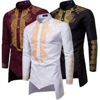 Homens Moda África Roupas Long Pullovers Roupas de Vestido Africano Roupas Hip Hop Robe Africaine Casual World