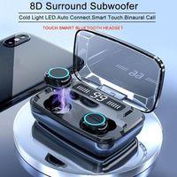 M11Wireless Bluetooth Earbuds LED Digital Display Touch 8D 5.0 Earphone 3300Mah Powerbank Charging Case V5.0 Waterproof Headset