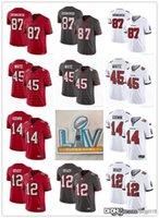 Mens Womens Gençlik 14 Chris Godwin 12 Tom Brady 87 Rob Gronkowski 45 Devin Beyaz Gri Beyaz Kırmızı Özel Futbol Formaları