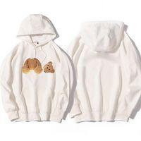 Мужская и женская осень и зима Новый обезкованный свитер с капюшоном с капюшоном без медведя Свободные тонкие толстовки новые