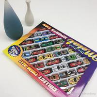 مصغرة الحديد الكرتون الملونة F1 سباق السيارات نموذج سيارة لعبة الجيب، سيارة رياضية مع المدرج، ومواقف السيارات، عيد الميلاد طفل عيد ميلاد الصبي هدية، 3-2