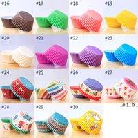 Ölfeste Kuchenbecher 30 Stil Cupcake-Form 100pcs / PVC-Eimer Verpackung Schokoladenbrot-Kuchen Backwerkzeuge FWD5468