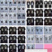 NCAA Vintage 75th Retro College Football 81 Tim Braun Jersey Lyle Alzado Jim Otto Jack Tatum Kunst Muschel Ted Hendricks Dave Casper Woodson Trikots Schwarz Weiß