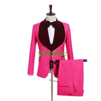 Custom-made One Button Groomsmen Shawl Lapel Groom Tuxedos Men Suits Wedding Prom Dinner Man Blazer(Jacket+Pants+Tie+Vest) W960