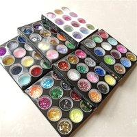 45/72 Colori Diamond Shimmer Glitter Polvere Temporaneo Tatuaggio Per Bambini Faccia Corpo FAI DA TE Nail Pittura Decorazione Art Tool