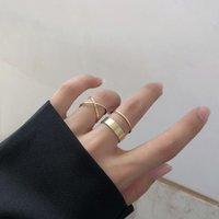 Бесплатные DHL простые геометрические кольца женщины 4шт / комплект кольца персонализированные жемчужные кольца для девочек рождественские подарки